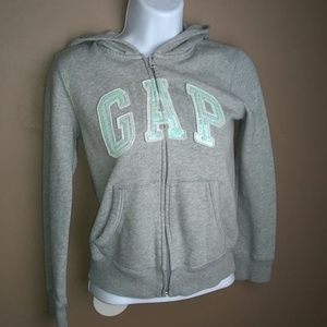 girls GAP grey kids sequence hoodie size L